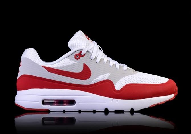Nike Air Max 1 Schnee Strand 875844 403 ObsidianTeam Rot