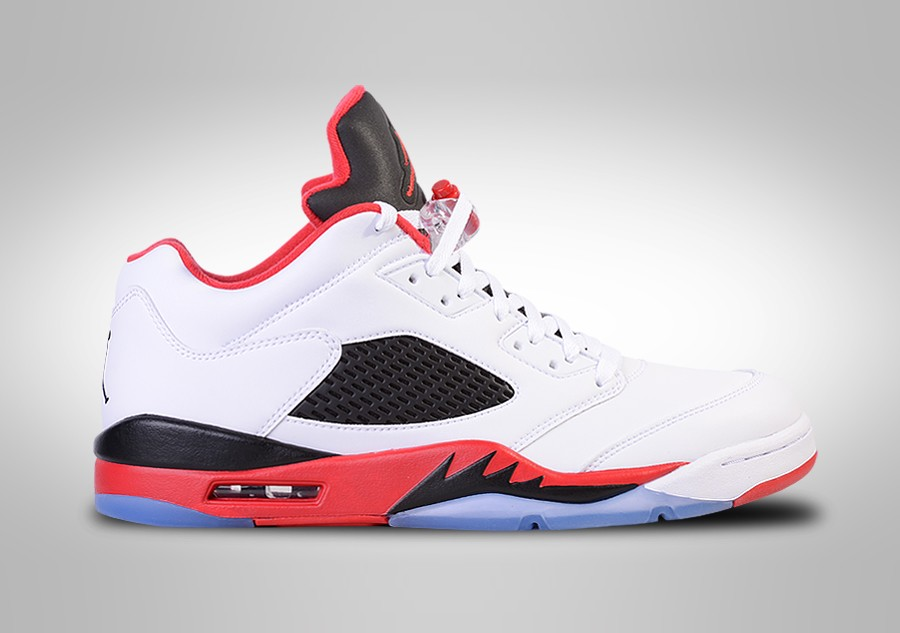 lowest price 2074d f93e8 NIKE AIR JORDAN 5 RETRO LOW FIRE RED