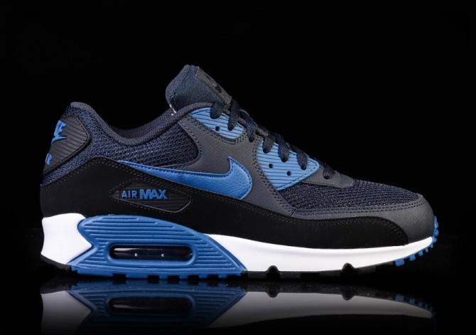 a5e0028fb657f3 shop nike air max 90 essential dark obsidian court blue black white 9dd33  2f6db