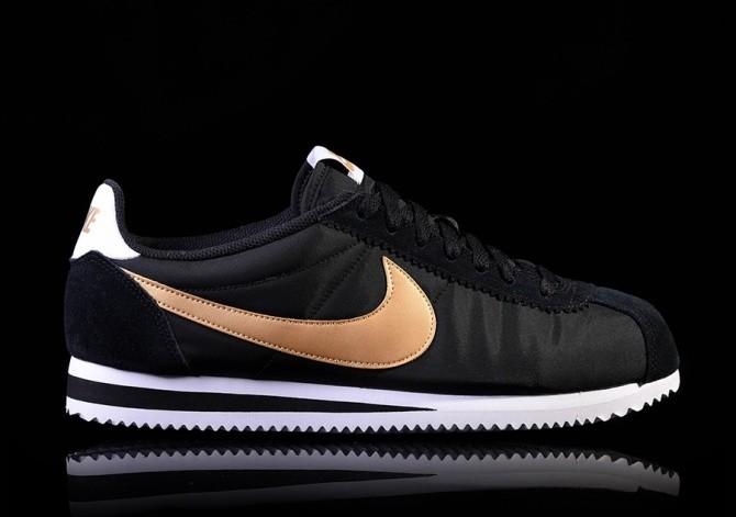 NIKE CLASSIC CORTEZ NYLON BLACK/METALLIC GOLD-WHITE