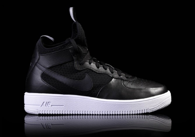 db32462eeeb8 NIKE AIR FORCE 1 ULTRAFORCE MID BLACK-WHITE price €105.00 ...