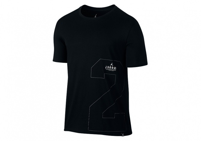 NIKE AIR JORDAN FRONT 2 BACK DRI-FIT TEE BLACK
