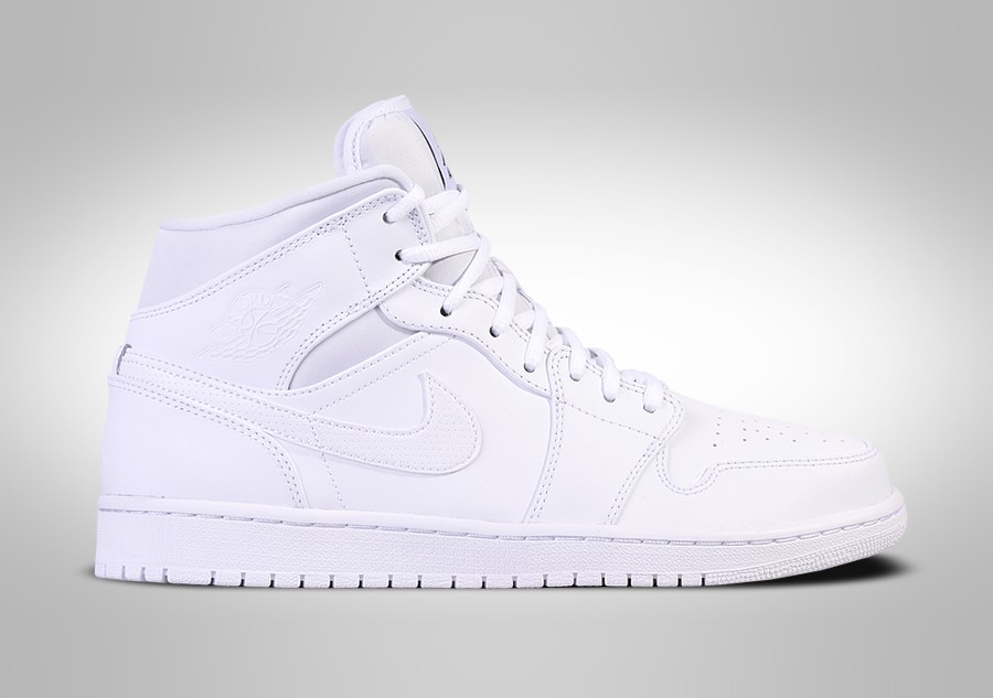 aa808f8dfbd NIKE AIR JORDAN 1 RETRO MID TRIPLE WHITE BG (SMALLER SIZE) price ...