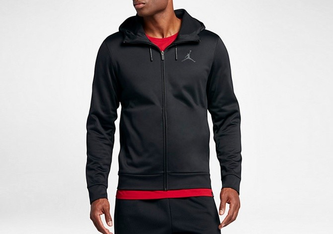 93f8c08f801d NIKE AIR JORDAN THERMA 23 PROTECT FZ HOODIE BLACK price €82.50 ...
