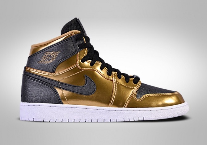c2acc4f9fdb NIKE AIR JORDAN 1 RETRO HIGH BHM GG METALLIC GOLD BLACK-WHITE price ...
