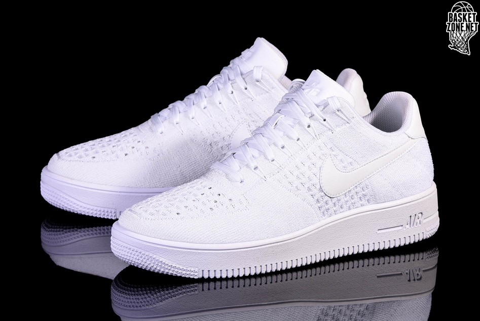 Nike W Air Force 1 Flyknit Low White White | Footshop