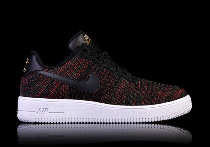 NIKE AIR FORCE 1 ULTRA FLYKNIT LOW BLACK price ?122.50
