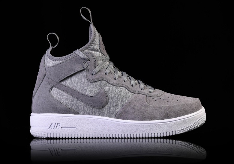 designer fashion c33a1 cd156 NIKE AIR FORCE 1 ULTRAFORCE MID PRM COOL GREY