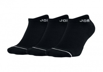 NIKE AIR JORDAN JUMPMAN NO-SHOW SOCKS BLACK