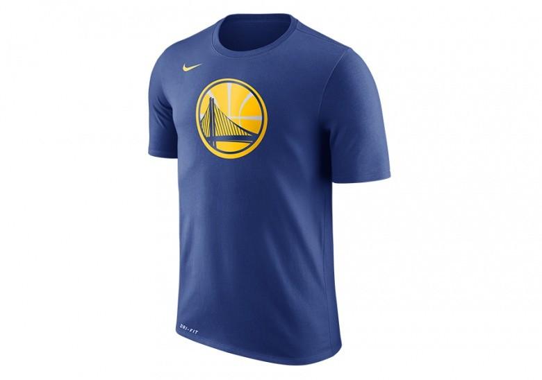 NIKE NBA GOLDEN STATE WARRIORS DRY TEE LOGO BLUE