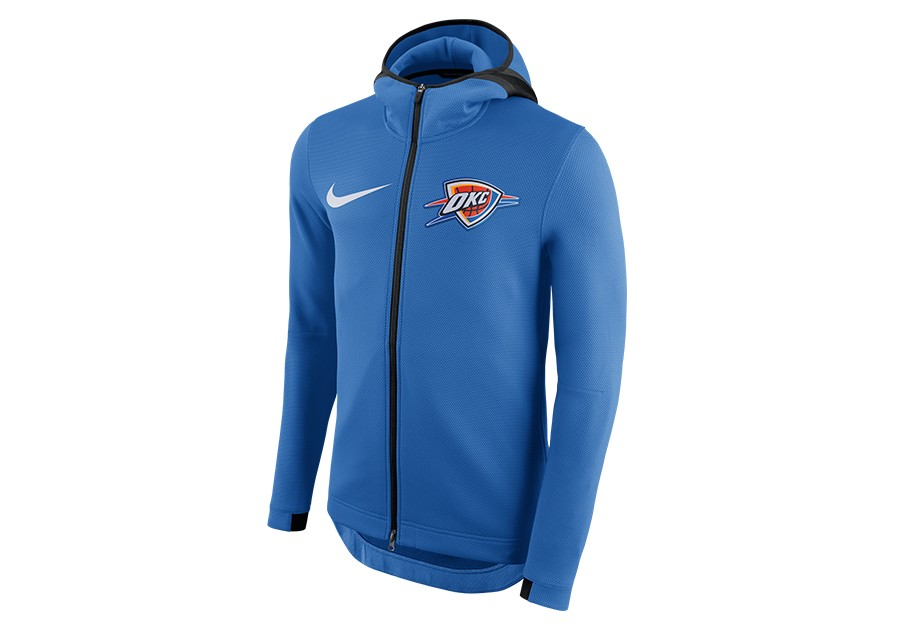 d5b7bb21fbb NIKE NBA OKLAHOMA CITY THUNDER THERMA FLEX SIGNAL BLUE voor €112,50 ...