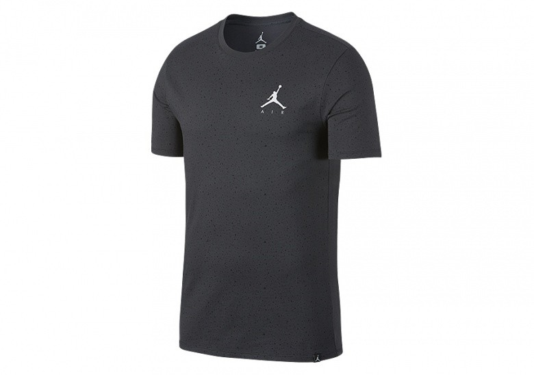 NIKE AIR JORDAN SPORTSWEAR SPECKLE ALLOVER PRINT TEE ANTHRACITE