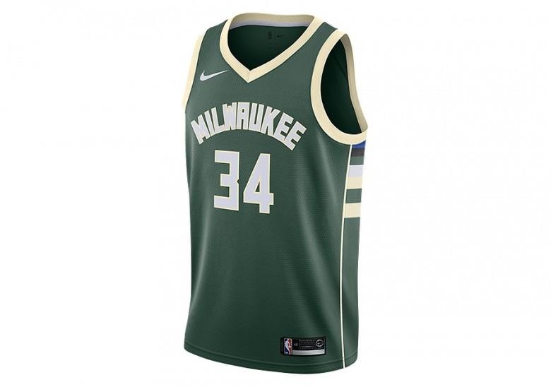 NIKE NBA MILWAUKEE BUCKS GIANNIS ANTETOKOUNMPO SWINGMAN JERSEY ROAD FIR