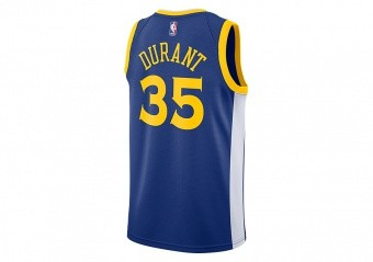 e0f7f4d186b NIKE NBA GOLDEN STATE WARRIORS KEVIN DURANT SWINGMAN JERSEY ROAD RUSH BLUE.  864475-496