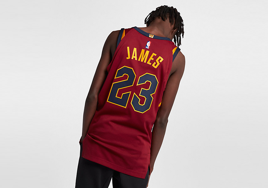 20a302cb NIKE NBA CLEVELAND CAVALIERS LEBRON JAMES AUTHENTIC JERSEY ROAD TEAM RED