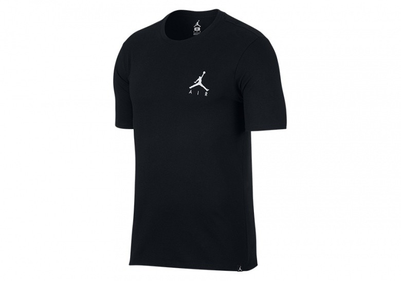 NIKE AIR JORDAN SPORTSWEAR JUMPMAN AIR EMBROIDERED TEE BLACK