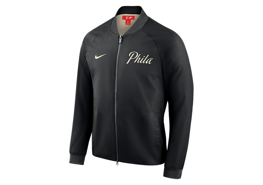 ecedc0ec0085c NIKE PHILADELPHIA 76ERS CITY EDITION MODERN JACKET BLACK price ...