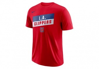 NIKE NBA LA CLIPPERS TEE UNIVERSITY RED