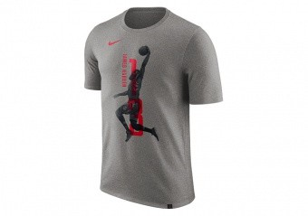 NIKE NBA JAMES HARDEN HOUSTON ROCKETS TEE DARK GREY HEATHER