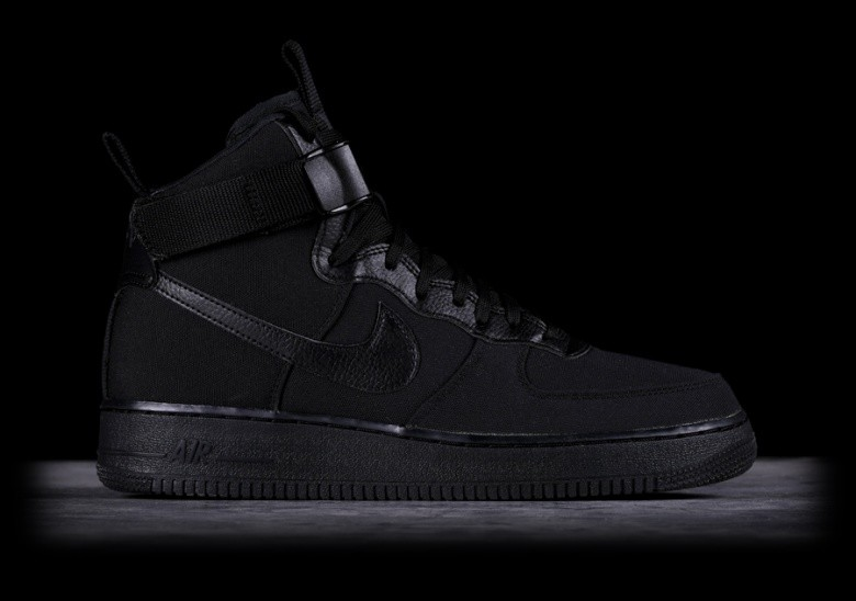 new product d905a 74f6c NIKE AIR FORCE 1 HIGH  07 CANVAS BLACK