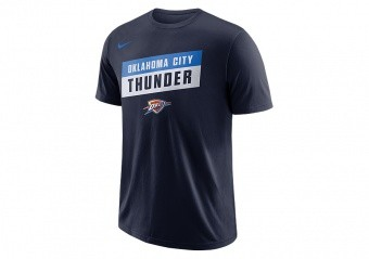 NIKE NBA OKLAHOMA CITY THUNDER DRY TEE COLLEGE NAVY