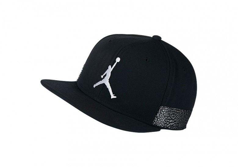 NIKE AIR JORDAN JUMPMAN PRO AJ 3 CAP BLACK
