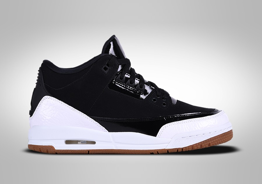 timeless design 67e0d 7daf2 NIKE AIR JORDAN 3 RETRO BLACK WHITE GUM GG