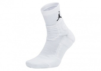 NIKE AIR JORDAN ULTIMATE FLIGHT QUARTER 2.0 BASKETBALL SOCKS WHITE