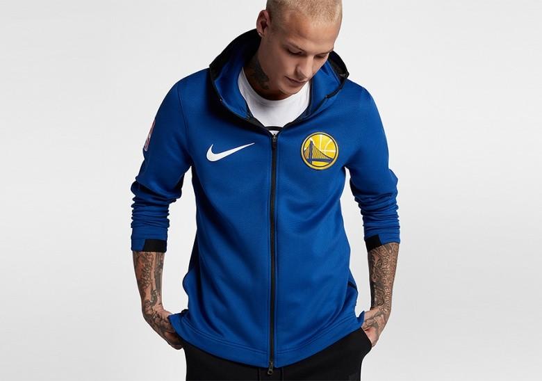 NIKE NBA GOLDEN STATE WARRIORS THERMA FLEX RUSH BLUE