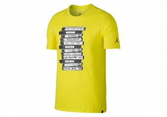 NIKE AIR JORDAN SPORTSWEAR LAST SHOT TEE TOUR YELLOW