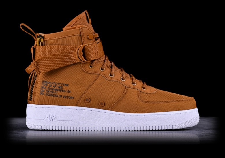 NIKE AIR FORCE 1 MID SF DESERT OCHRE