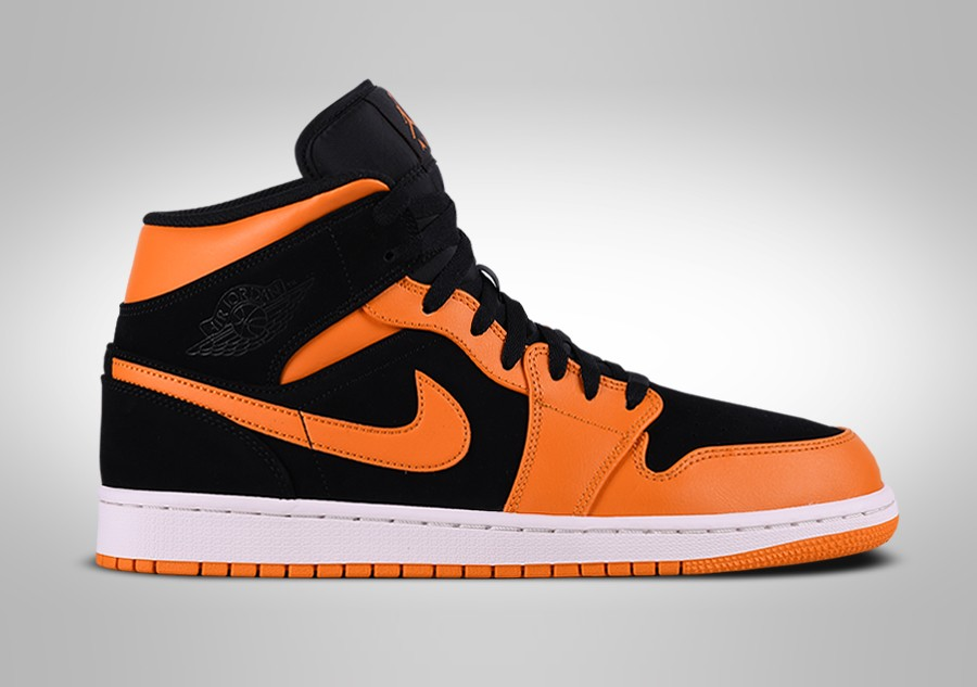 885a23762b07 NIKE AIR JORDAN 1 RETRO MID BLACK ORANGE PEEL price €99.00 ...