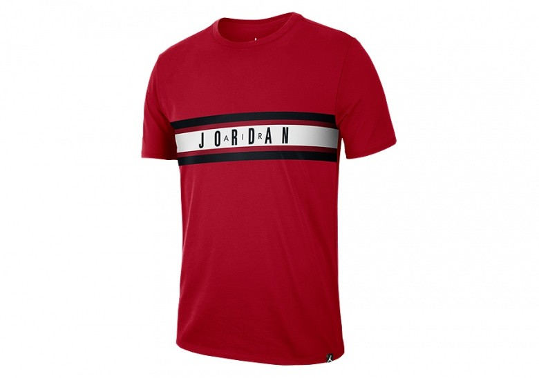 NIKE AIR JORDAN BASKETBALL DRY GRAPHIC 4 TEE GYM RED