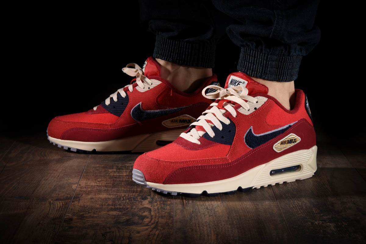 Details about Nike Air Max 90 Premium SE 858954 600 University Red Men's Running Shoes