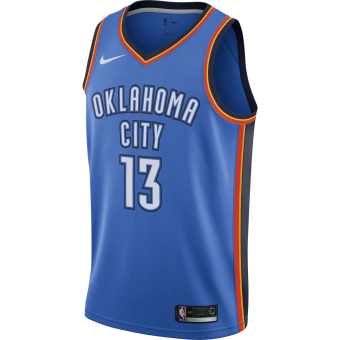 NIKE NBA OKLAHOMA CITY THUNDER PAUL GEORGE ROAD SWINGMAN JERSEY