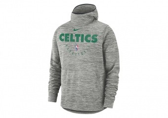 NIKE NBA BOSTON CELTICS SPOTLIGHT HOODIE CARBON HEATHER