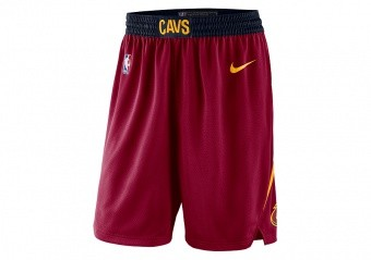 NIKE NBA CLEVELAND CAVALIERS SWINGMAN ROAD SHORTS TEAM RED