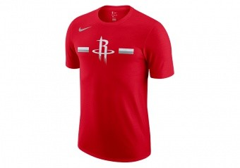 NIKE NBA HOUSTON ROCKETS LOGO DRY TEE UNIVERSITY RED
