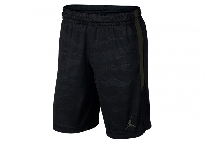 NIKE AIR JORDAN 23 ALPHA DRY KNIT PRINT SHORTS BLACK