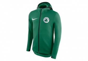 NIKE NBA BOSTON CELTICS THERMAFLEX SHOWTIME HOODIE CLOVER