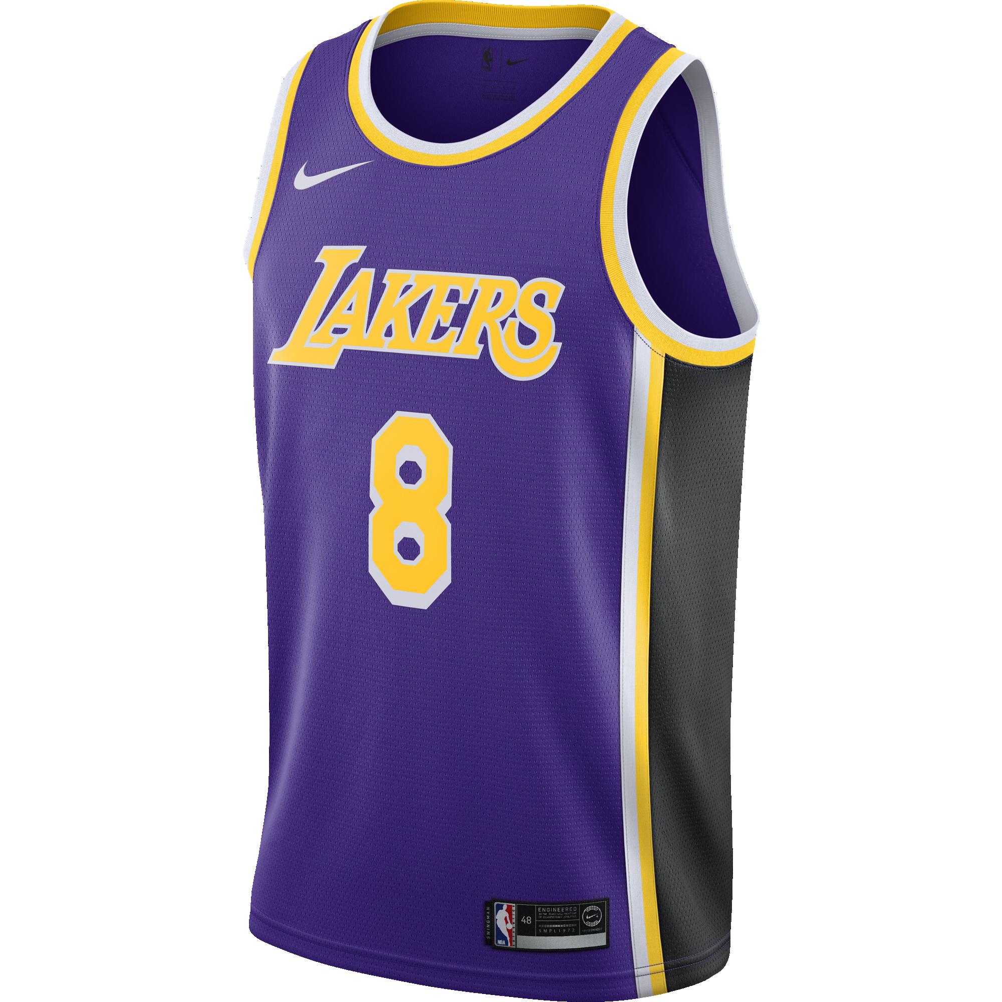 25d394b11 NBA LOS ANGELES LAKERS KOBE BRYANT SWINGMAN JERSEY for £80.00 ...
