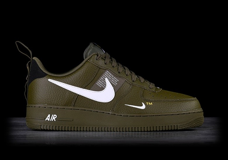 timeless design bb389 2fff3 NIKE AIR FORCE 1  07 LV8 UTILITY OLIVE CANVAS