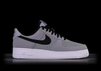 online store 98932 1026a NIKE AIR FORCE 1  07 LEATHER GREY BLACK