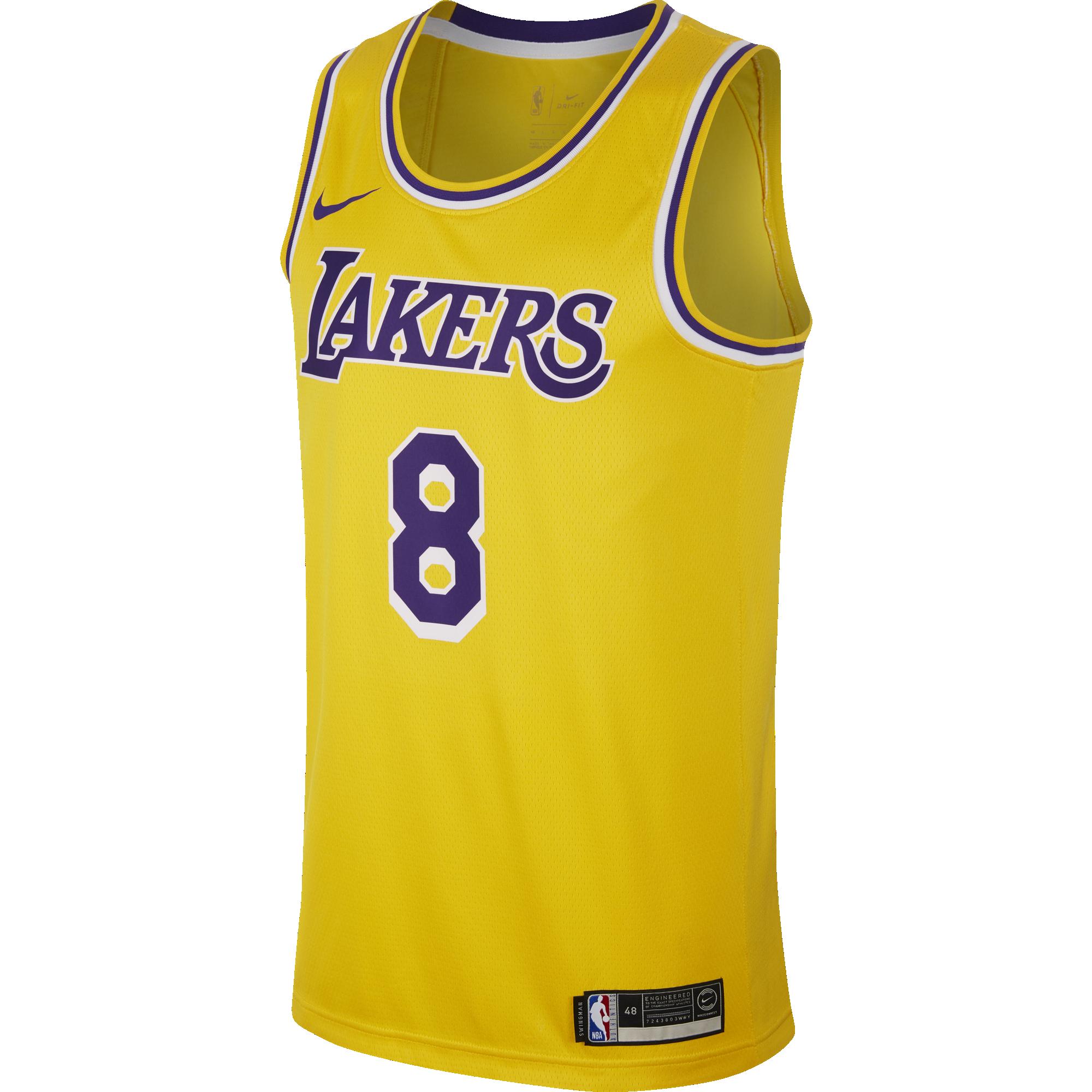 detailing aec2c 1539b NIKE NBA LOS ANGELES LAKERS KOBE BRYANT SWINGMAN ROAD JERSEY ...