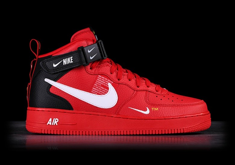 Nike Air Force 1 Mid '07 LV8 (red black)