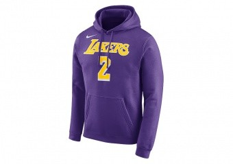NIKE NBA LOS ANGELES LAKERS LONZO BALL HOODIE FIELD PURPLE