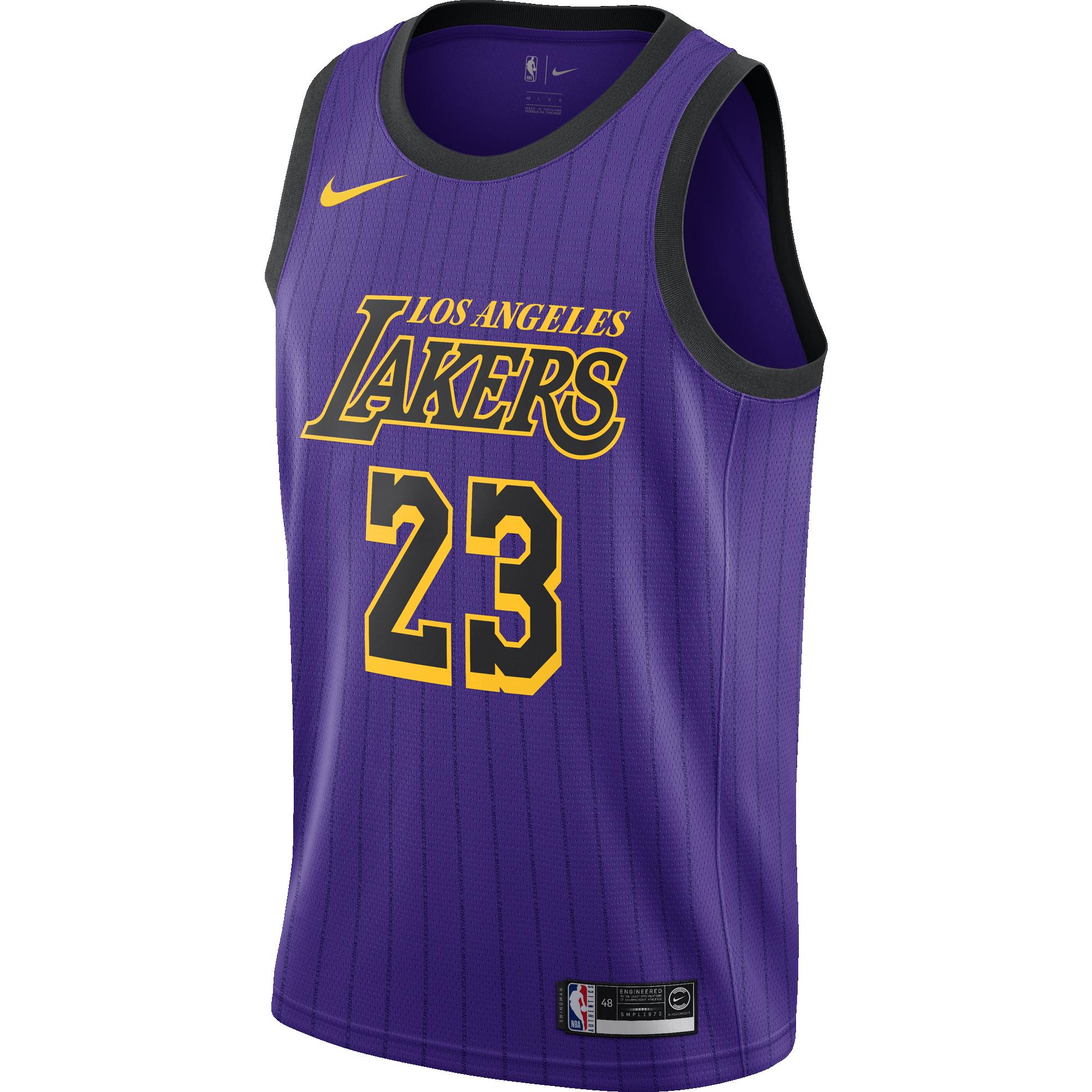 9bc4dbe55 NIKE NBA LOS ANGELES LAKERS LEBRON JAMES SWINGMAN JERSEY for £80.00 ...