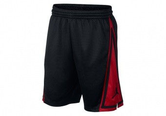 NIKE AIR JORDAN FRANCHISE SHORTS BLACK GYM RED
