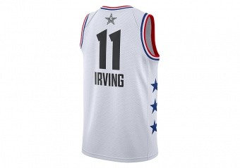 NIKE AIR JORDAN NBA ALL STAR WEEKEND 2019 LEBRON KYRIE IRVING JERSEY WHITE