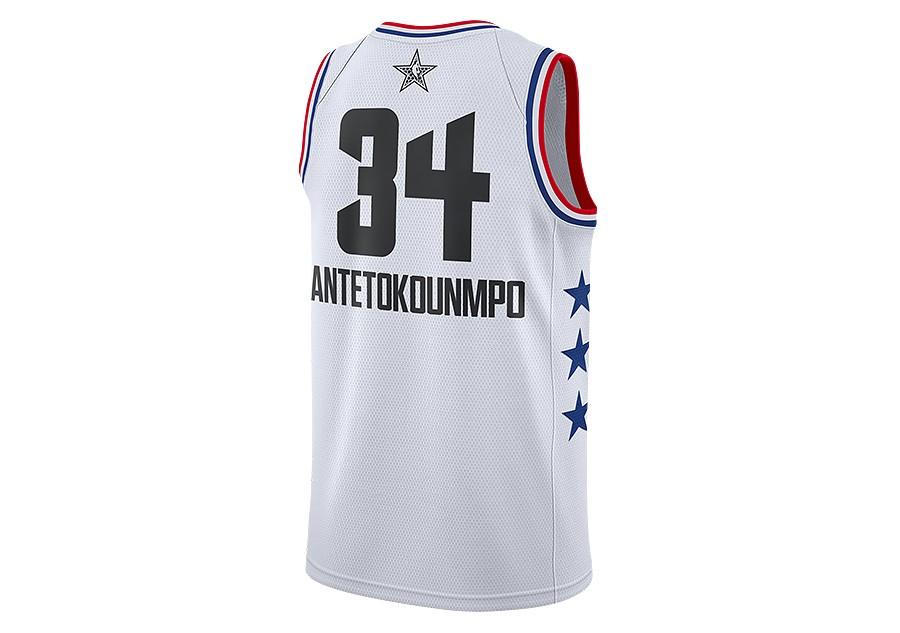 timeless design efe67 f1f73 NIKE AIR JORDAN NBA ALL STAR WEEKEND 2019 GIANNIS ANTETOKOUNMPO SWINGMAN  JERSEY WHITE